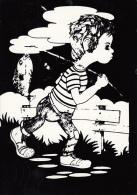Fishing Boy Caricature - Illustrators & Photographers