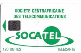 TELECARTE PHONECARD CENTREAFRIQUE  120 UNITES SOCATEL - Centraal-Afrikaanse Republiek