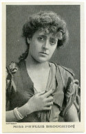 ACTRESS AND DANCER : PHYLLIS BROUGHTON / POSTMARK - BRENZETT, KENT (SINGLE CIRCLE) 1908 - Entertainers