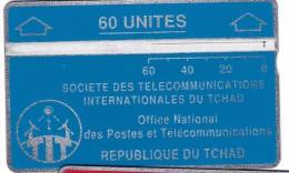 TELECARTE PHONECARD TCHAD 60 UNITES  REPUBLIQUE DU TCHAD OFFICE NATIONAL DES POSTES ET TELECOMMUNICATIONS - Chad