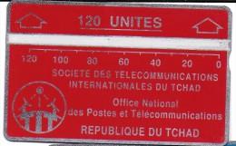TELECARTE PHONECARD TCHAD 120 UNITES  REPUBLIQUE DU TCHAD OFFICE NATIONAL DES POSTES ET TELECOMMUNICATIONS - Tsjaad