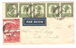 TP 254(5)-241(2) S/L.Avion C.Wamba En 1945 V.Ixelles PR2497 - Poste Aérienne: Lettres
