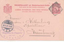 Ned.Indie - 1901 , WELTEFREDEN - Nach Hamburg - Niederländisch-Indien