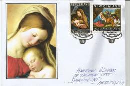 NEW-ZEALAND. La Sainte Famille & La Vierge & Enfant, Tableaux De Le Titien & Carlo Maratta. Emission NOËL - Christmas