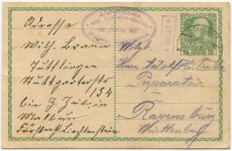 337 - MALBUN Postablagestempel Auf Vorläufer Ganzsachen-Postkarte - Liechtenstein