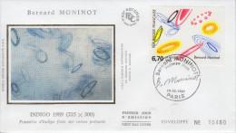 Enveloppe  1er  Jour   Oeuvre  De  Bernard   MONINOT     1997 - 1990-1999