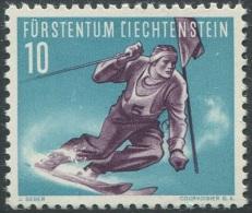 179 - Seltener Liechtenstein Plattenfehler - Skifahrer - Variétés