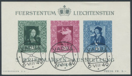 162 - Liechtenstein Gemälde Block ET - Blocks & Kleinbögen