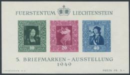 161 - Liechtenstein Gemälde Block **