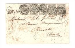 TP 53 (5) S/CP Parc De Genval-les-Eaux - Le Trèfle-à-quatre C.BXL Nord En 1905+Griffe Genval V.Uccle PR2501 - Postmark Collection