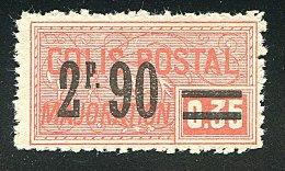 Colis Postaux ** N° 45 - 2F 90 S. 15c Lilas Brun. - Neufs