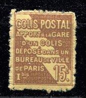Colis Postaux ** N° 54 - 15c Brun S. Jaune - Neufs
