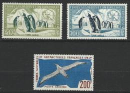 "TAAF Aerien YT 2 à 4 (PA) "" Faune "" 1956-59 Neuf** - Poste Aérienne"