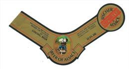 étiquette Bière Brasserie Fischer 67 Schiltigheim   Beer Of Alsace Imported  Strong Beer - Beer