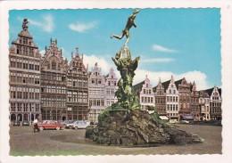 ANTWERPEN / ANVERS : BRABO Fontein En Gildehuizen / Le BRABO Et Anciennes Maisons Des Corporations (animée) - Antwerpen