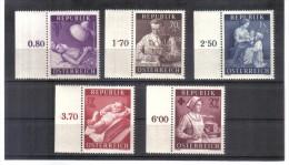OPK321 ÖSTERREICH 1954  MICHL  999/1004 ** Postfrisch 10 % KATALOG - 1945-.... 2ème République