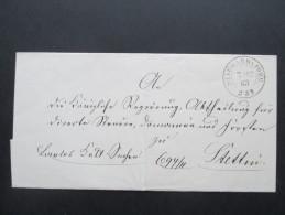 Altdeutschland Mecklenburg 7.12.1863 Sauberer K2 Stargard In Pommern. 2 Weitere Stempel. Toller Beleg!! - Mecklenburg-Strelitz