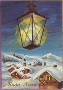 Voeux °° Nouvel An - Buon Anno - Lanterne Sur Le Village - écrite ° T-P - New Year