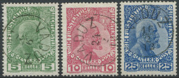 155 - 1. Serie Liechtenstein Mit Vollstempel VADUZ - Gebraucht