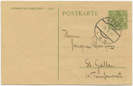 340 - 1924 Postkarte Wappen Mit Putten - Entiers Postaux