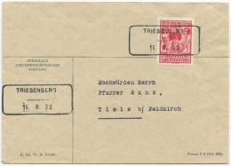 347 - Aushilfstempel TRIESENBERG 16.II.33 Auf Postumschlag - Marcophilie - EMA (Empreintes Machines)