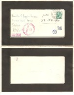 Suisse TP 5 C S/L.de Deuil/Mourning Cover 1944 C.Heiden To Belgium Roulers German Censor PR2505 - Suisse