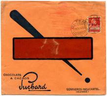 473 - SUCHARD Perfin-Brief Mit 10 Rp. Tell Type I - Briefe U. Dokumente