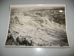 FOTOGRAFIA  AIRMINISTRY PHOTOGRAPH DAMAGE AT SAARBRUCKEN GERMANIA WW2 OCT 1945 BOMBARDAMENTO - Guerre, Militaire