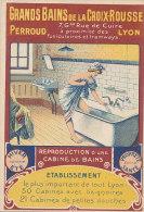 69 // LYON   GRANDS BAINS DE LA CROIX ROUSSE   Carte Publicitaire / Illustration - Lyon
