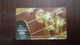 Guyana-improving Telecommunications In Guyana$500-used Card+2 Card Prepiad Free - Guyana
