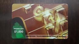 Guyana-improving Telecommunications In Guyana$1.000-used Card+1 Card Prepiad Free