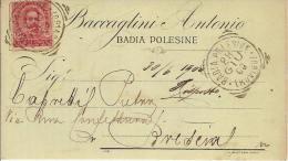 (C).Badia Polesine.Pubblicitaria Commerciale Del 28 Giu 1900.Ottima Conservazione (55-a15) - Rovigo
