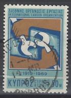 Chipre U 307 (o) Foto Estandar.  1969 - Cyprus (Republic)