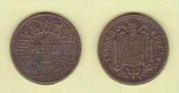 FRANCISCO FRANCO  (ESTADO ESPAÑOL)  1  PESETA 1.944   SC/UNC  Réplica  T-DL-11.455 - [ 4] 1939-1947 : Gobierno Nacionalista