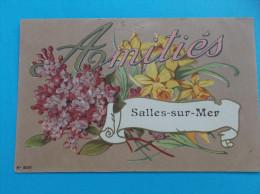17 : SALLES Sur MER : AMITIES De...  : C.P.A. : Carte En Très Bon état ,  , - Saluti Da.../ Gruss Aus...