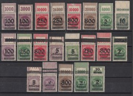 DR Lot 21 Marken Mit OPD Oberrand Postfrisch, OR Mit Falz Ansehen !!!!!!!!!!!! - Briefmarken