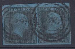Preussen Minr.2 Gestempelt Waager. Paar - Preussen