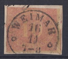Preussen Minr.20 Gestempelt Geprüft Weimar 16.11. - Preussen
