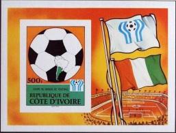 Ivory Coast, Soccer World Cup 1978, MNH Imperforated Souvenir Sheet, Michel Block 12B - Côte D'Ivoire (1960-...)