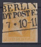 Preussen Minr.8b Gestempelt Geprüft - Preussen