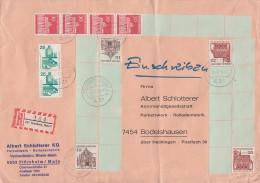 Bund R-Brief Mit 5 Marken Mit Rollenanfang Ansehen !!!!!!!!!! - Rollenmarken