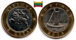 Lituanie - 2 Litai 2013 (Kurenkahn) UNC - Lithuania