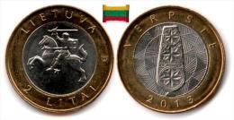 Lituanie - 2 Litai 2013 (Distaff) UNC - Lithuania