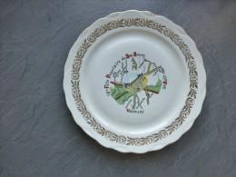 36 VALENCAY Assiette Plate Fête Du Bas-bourg 1967 ; Ref OB 01 - Non Classificati