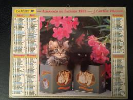 Calendrier Almanach Du Facteur 1997, Chats Intérieur PARIS Et Région Cartier-Bresson - Calendriers