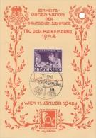 DR Sonderblatt Tag Der Briefmarke Minr.811 SST Wien 11.1.42 FDC - Deutschland