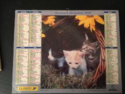 Calendrier Almanach Du Facteur 1999, CHATS Et CHIENS West Highland Terriers  , PARIS - Calendriers