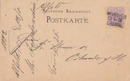 DR Karte EF Minr.40 Bpst. Hannover-Kassel Aus Alfeld - Deutschland