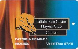 Buffalo Run Casino Miami, OK Slot Card - Choice Level - Casino Cards