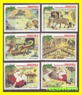 DOMINICA-CARIBE -  6  SELLOS NUEVOS   AÑO 1981 - América Central